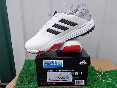 d92b7609a37e8 Adidas Adipower Bounce WD Golf Shoes White Black and Red US Size 11 Wide NEW