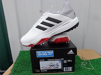 9d733dfaec4e3 Adidas Adipower Bounce WD Golf Shoes White Black and Red US Size 10.5 Wide  NEW