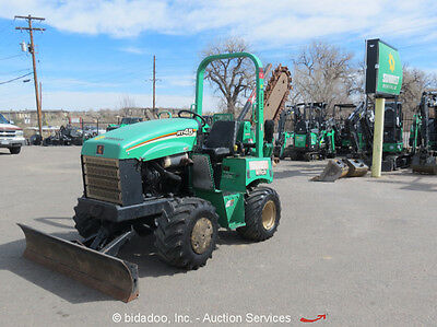2012 Ditch Witch RT45 4x4 Ride-On Trencher H314 Side Shift Hydraulic Blade
