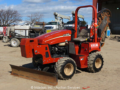 2012 Ditch Witch RT45 4X4 Ride-On Trencher Tractor Blade Side Shift 4WD bidadoo