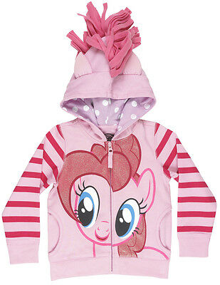 Girls My Little Pony Pinkie Pie Earth Zip Up Jacket Hooded Pink