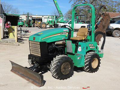 2013 Ditch Witch RT45 Ride-On 4x4 Trencher Tractor Blade 4WD H313 Attach bidadoo