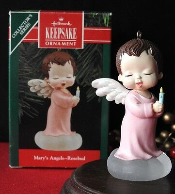 Hallmark Ornament 1990 Mary's Angels  Rosebud 3rd in the Series