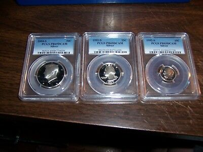 ( Lot Of 3) Silver Coins Certified By Pcgs -As Seen On Tv-Add To Your Portfolio