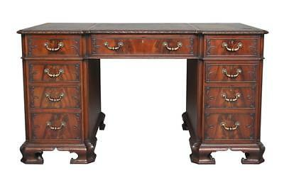 Early 20Th Century Edwardian Chippendale Influenced Mahogany Desk