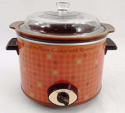 3.5 Qt Montgomery Ward Crock Pot Slow Cooker Mid Century Retro Atomic Starburst