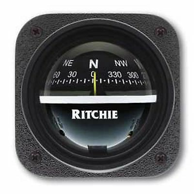 "Ritchie Explorer Bulkhead Mount 2-3/4"" Dial for Sailboat 12 Volt Night Lighting"