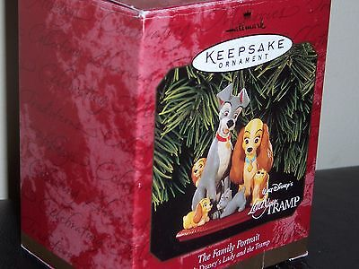 "Hallmark Walt Disney's Lady And The Tramp ""family Portrait""  Nib 1999"