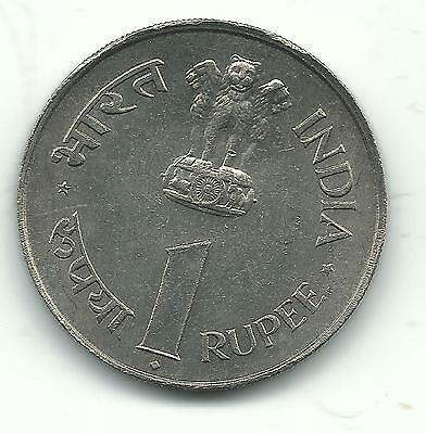 A Very Nice High Grade Au/unc 1964 India One Rupee Coin-Feb787