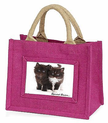 Black Kittens 'Special Sister' Little Girls Small Pink Shopping Bag C, AC-208BMP