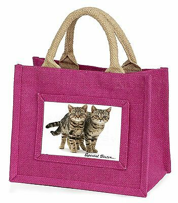 Tabby Kittens 'Special Sister' Little Girls Small Pink Shopping Bag C, AC-209BMP