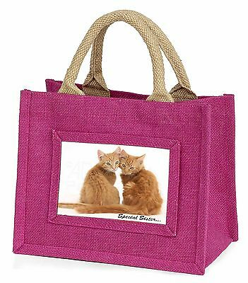 Ginger Kittens 'Special Sister' Little Girls Small Pink Shopping Bag , AC-211BMP