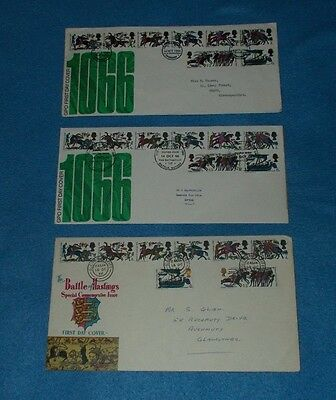 First Day Covers The Battle Of Hastings 14.10.66 Various Postmarks  Select Cover