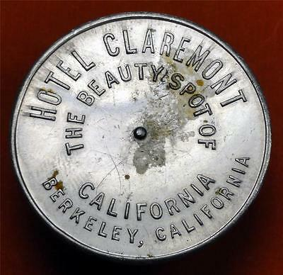 HOTEL CLAREMONT BERKELEY CALIFORNIA Spinner Token ARROW----- YOU PAY 35mm ME3919