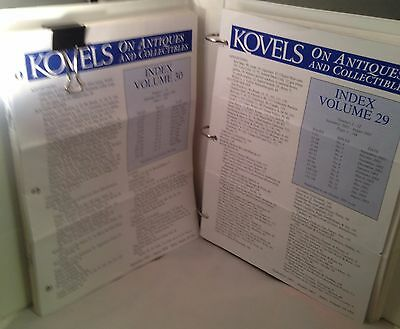 Kovels Newsletters w/ Index Sept 2002 - Aug 2003  Sept 2003 - Aug 2004 (29 &30)