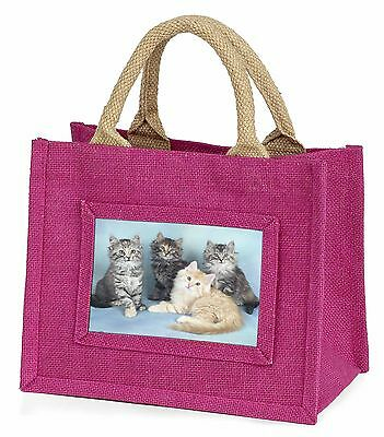 Cute Fluffy Kittens Little Girls Small Pink Shopping Bag Christmas Gif, AC-56BMP