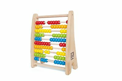 Hape Rainbow Wooden Counting Bead Abacus