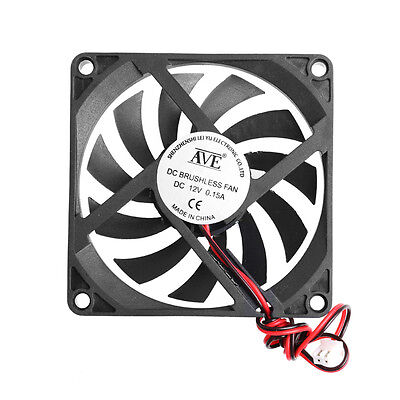 80x80x10mm 2-Pin 12V PC Computer CPU System Heatsink Brushless Cooling Fan 8010