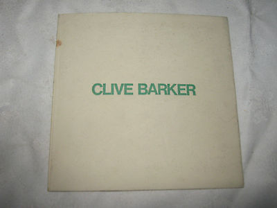 A 1974 Clive Barker Heads and Chariots Sculpture Exhibition Catalogue Booklet