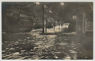 London/Surrey postcard - Deluge at Norbury, Sunday June 14th 1914 (Flood) - RP