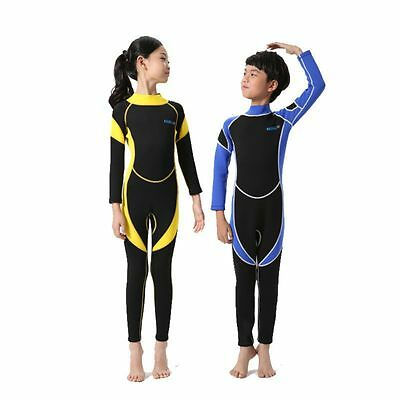 New Girls Boy Long Sleeve Wetsuit Kid Surfing Diving Suit Swimsuit UV protection