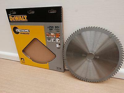 Dewalt Dt4287 250Mm X 30Mm 80T Tct Mitre Table Saw Blade + 12 Pencils (New Logo)