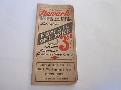 Vintage Memo Book Advertising Newark Shoes Tiffin, Ohio B