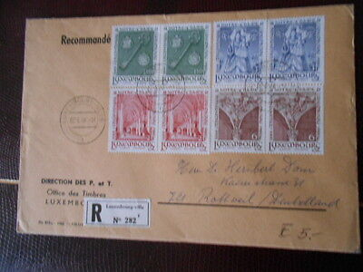 Luxembourg Enveloppe Timbree Premier Jour 02/06/1966  8 Timbres