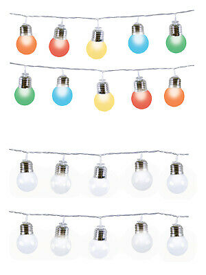 Party Light String Christmas Decoration Retro White Colour 50 LED Indoor Outdoor