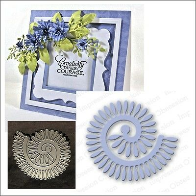 318O SPIRAL ROSE SET DIE-Impression Obsession suitable for most die cutters