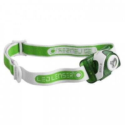 NEW LED Lenser SEO3 Head Torch Lamp Light - 90 Lumens Output - PWSE03