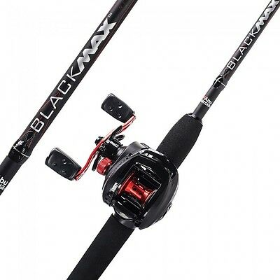NEW Abu Garcia Black Max Fishing Rod & Fishing Reel Combo - 1376703