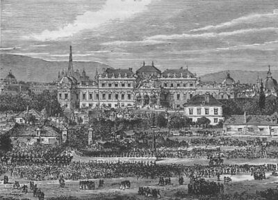 VIENNA. The Belvedere 1882 old antique vintage print picture