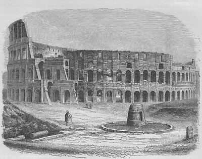 ROME. The Colosseum 1882 old antique vintage print picture