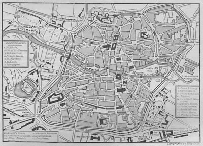 NUREMBERG. Plan of Nuremberg 1882 old antique vintage map chart