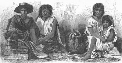 MEXICO. Mexican Indians at market 1880 old antique vintage print picture