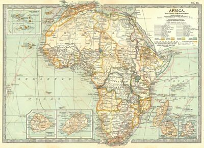 AFRICA. Cape Verde, Mauritius, Reunion, Ascension, St Helena islands 1903 map