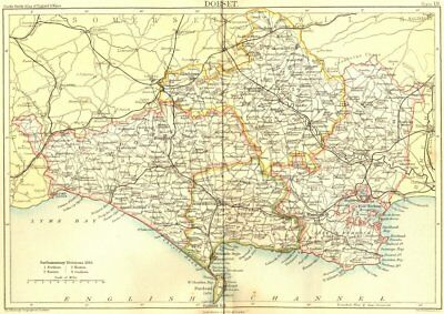 DORSET. Black 1892 old antique vintage map plan chart