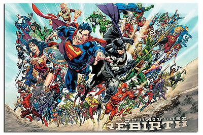 DC Justice League Rebirth Poster New - Maxi Size 36 x 24 Inch