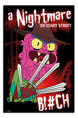 Rick And Morty A Nightmare On Scary Street Poster New - Maxi Size 36 x 24 Inch