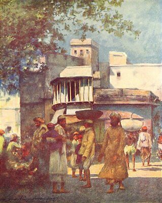 A Minstrels Balcony 1905 old antique vintage print picture INDIA