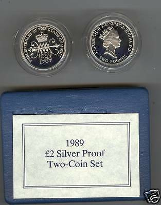 1989 Boxed Silver Proof £2 Bill & Claim Coin Set