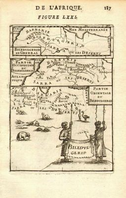 NORTH AFRICA. 'Biledulgerid', a former North African country. MALLET 1683 map