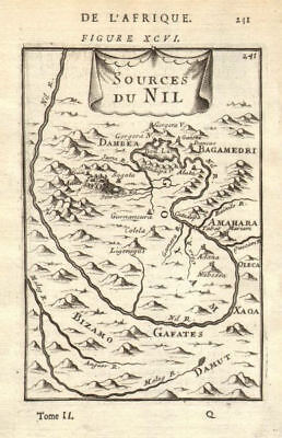 ABYSSINIA. Source of the Blue Nile, Ethiopia. Lake Tana. Nil. MALLET 1683 map