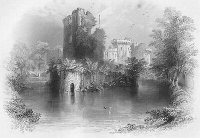 WALES. The Keep Tower-Bartlett c1860 old antique vintage print picture