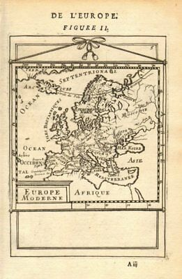 EUROPE. 'Europe Moderne'. Rivers countries. Very decorative. MALLET 1683 map