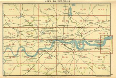 LONDON. Index map of London. Railways. BARTHOLOMEW 1930 old vintage chart