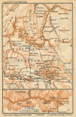 THE GRAND CANYON OF THE COLORADO RIVER. Arizona 1904 old antique map chart