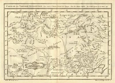 'Tartarie Occidentale'. Western Tartary. N China & Mongolia. BELLIN 1758 map