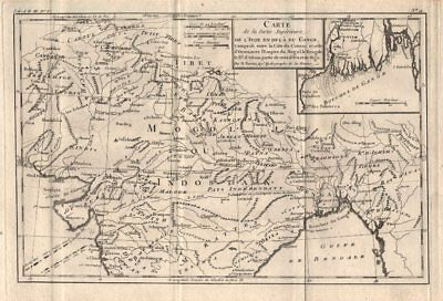 """Partie Superieure de l'Inde en deca du Gange"". Northern India. BONNE 1780 map"